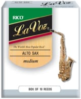 D'addario Rico La Voz - Anches Saxophone Alto Médium laflutedepan.com