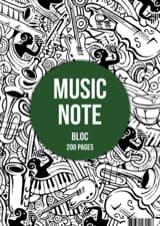 Bloc Papier Musique A4 Papeterie Musicale Papier laflutedepan.com