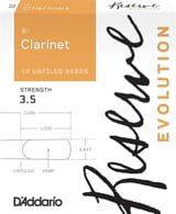 Anches pour Clarinette Sib - D'Addario Réserve Evolution - B flat Clarinet Reeds 3.5 - Accessory - di-arezzo.co.uk