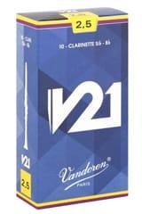 Vandoren CR8025 - Anches V21 Clarinette Si bémol 2.5 laflutedepan.com