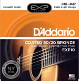 Cordes pour Guitare Acoustique - SET of 6 ADDARIO EXP10NY Strings - Super Light 10-47 - FOLK GUITAR - Accessory - di-arezzo.com