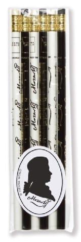 Set de 6 crayons - MOZART - Cadeaux - Musique - laflutedepan.com