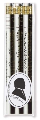 Set de 6 crayons - BEETHOVEN Cadeaux - Musique laflutedepan.com