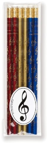 Cadeaux - Musique - Set of 6 colored pencils - KEY OF SOL - Accessory - di-arezzo.co.uk