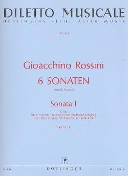 Sonate n° 1 G-Dur - Partitur Gioacchino Rossini Partition laflutedepan