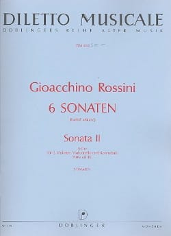 Sonate n° 2 A-Dur - Stimmen ROSSINI Partition Quatuors - laflutedepan
