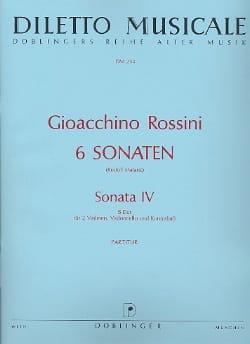 Gioacchino Rossini - Sonate n° 4 B-Dur - Partitur - Partition - di-arezzo.fr