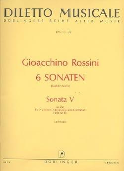 Sonate n° 5 Es-Dur - Stimmen ROSSINI Partition Quatuors - laflutedepan