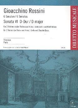 Sonate n° 6 D-Dur – Stimmen - Gioacchino Rossini - laflutedepan.com