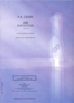 Air napolitain op. 8 Paul Agricole Génin Partition laflutedepan