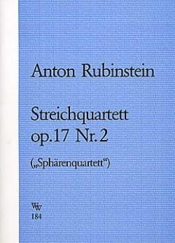 Anton Rubinstein - Streichquartett op. 17 Nr. 2 -Stimmen - Partition - di-arezzo.fr