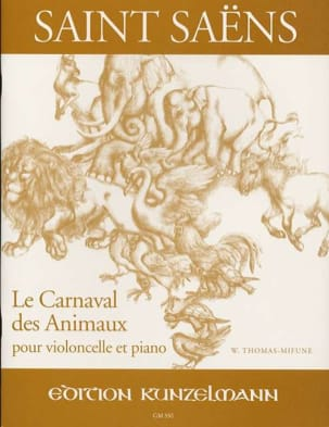 Camille Saint-Saëns - The Carnival of Animals - Cello and Piano - Sheet Music - di-arezzo.co.uk