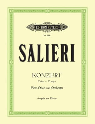 Konzert C-Dur -Flöte Oboe Klavier - SALIERI - laflutedepan.com