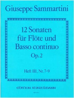 Giuseppe Sammartini - 12 Sonaten op. 2 - Heft 3 – Flöte u. Bc - Partition - di-arezzo.fr
