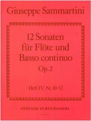 12 Sonaten op. 2 - Heft 4 Nr. 10-12 - Flöte u. Bc - laflutedepan.com