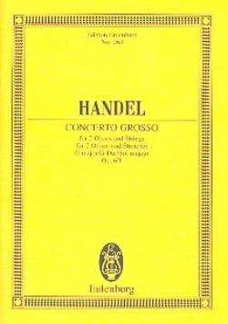 Georg Friedrich Haendel - Concerto grosso G-Dur - Partition - di-arezzo.fr