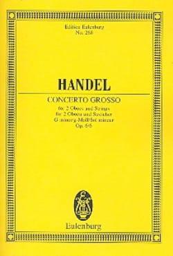 Georg Friedrich Haendel - Concerto grosso g-moll - Partition - di-arezzo.fr