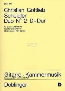 Christian Gottlieb Scheidler - Duo en Ré Maj. Violine Gitare - Partition - di-arezzo.fr
