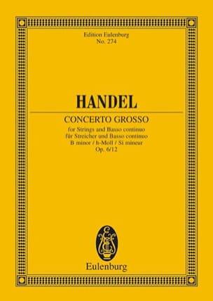 Georg F Haendel - Concerto grosso op. 6/12 - Partition - di-arezzo.fr