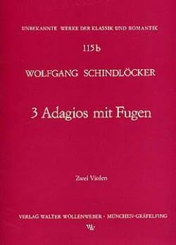 Adagios mit Fugen - Wolfgang Schindlöcker - laflutedepan.com