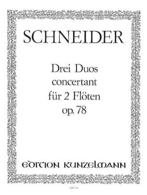 3 Duos concertants op. 78 - Flöten laflutedepan