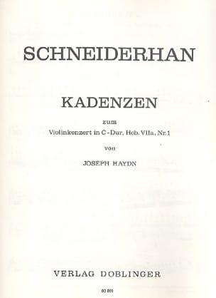 Kadenzen zum Violinkonzert Hob. 7a : 1 Haydn laflutedepan