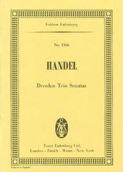 Georg Friedrich Haendel - Dresdner Triosonaten - Partition - di-arezzo.fr