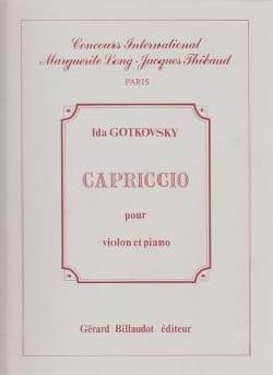 Ida Gotkovsky - Capriccio - Partition - di-arezzo.fr