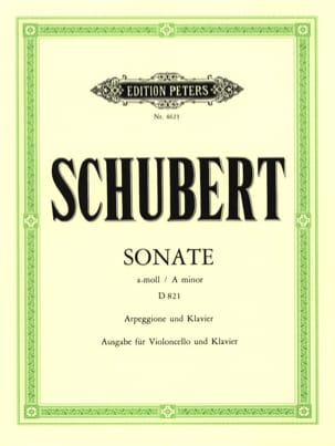 SCHUBERT - Sonata Arpeggione D 821 in A minor - Sheet Music - di-arezzo.co.uk