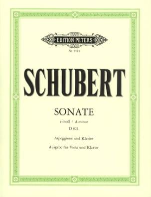 SCHUBERT - Sonata Arpeggione a-moll D. 821 - Viola - Partition - di-arezzo.com
