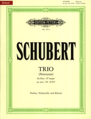 Franz Schubert - Trio Es-Dur (Notturno) op. post. 148 D. 897 – Violinen Viola Cello - Partition - di-arezzo.fr