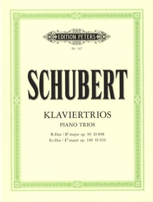 SCHUBERT - Klaviertrios:オペアンプ。 99 D 989 Bデュル - op。 100 D 929 Es-Dur - スティムメン - 楽譜 - di-arezzo.jp
