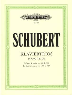 SCHUBERT - Klaviertrios: op. 99 D 989 B-Dur - op. 100 D 929 Es-Dur - Stimmen - Noten - di-arezzo.de