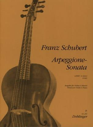 SCHUBERT - Arpeggione-Sonata A-Moll D 821 - Violin - Sheet Music - di-arezzo.co.uk