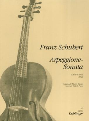 SCHUBERT - Arpeggione-Sonata a-Moll D. 821 - Viola - Sheet Music - di-arezzo.com