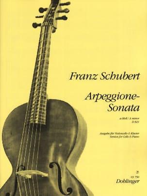 Franz Schubert - Sonate-Arpeggione A-Moll, D. 821 - Partition - di-arezzo.fr