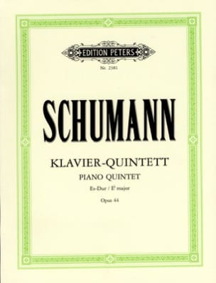 SCHUMANN - Klavierquintett Es-Dur op. 44 - Sheet Music - di-arezzo.co.uk