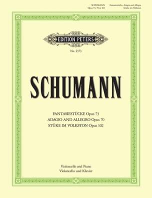 SCHUMANN - Fantasiestücke op. 73 - Adagio und Allegro op. 70 - Stücke im Volkston op. 102 - Partition - di-arezzo.fr