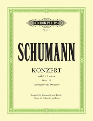 SCHUMANN - Cello Concerto a minor op. 129 - Sheet Music - di-arezzo.com