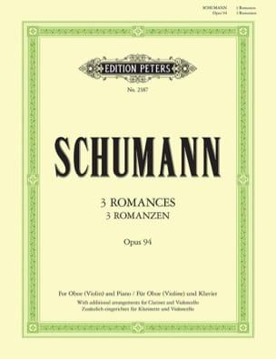 SCHUMANN - 3 Romanzen Op. 94 -oboe Violine Klavier - Partition - di-arezzo.fr