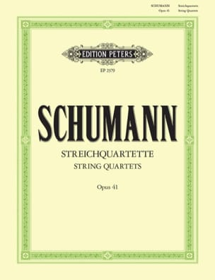 SCHUMANN - Streichquartette op. 41 - Stimmen - Sheet Music - di-arezzo.co.uk