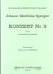 Johann Matthias Sperger - Konzert Nr. 2 D-Dur - Partition - di-arezzo.co.uk