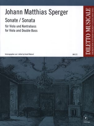 Johann Matthias Sperger - Sonata D-Dur - Viola und Kontrabass - Sheet Music - di-arezzo.co.uk