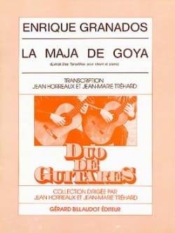 La Maja de Goya -2 guitares GRANADOS Partition Guitare - laflutedepan