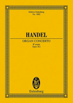 Georg Friedrich Haendel - Orgel-Konzert B-Dur, Op. 4/2 - Conducteur - Partition - di-arezzo.fr