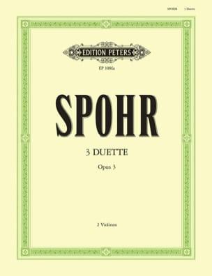 3 Duette op. 3 SPOHR Partition Violon - laflutedepan