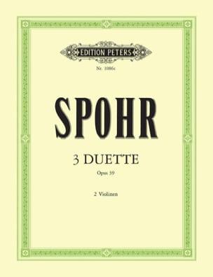 3 Duette op. 39 - Louis Spohr - Partition - Violon - laflutedepan.com