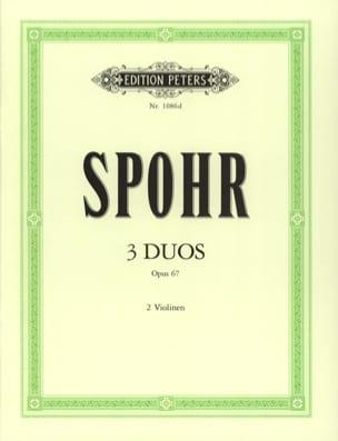 3 Duos op. 67 - Louis Spohr - Partition - Violon - laflutedepan.com