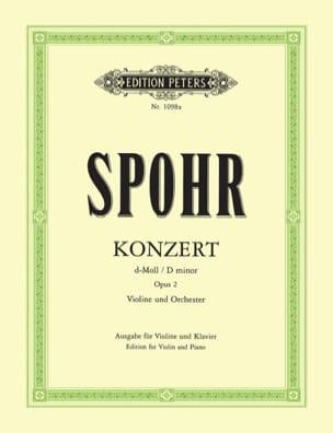 Louis Spohr - Concerto Violon n° 2 ré mineur op. 2 - Partition - di-arezzo.fr