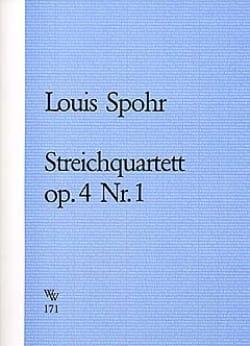 Streichquartett op. 4 n° 1 -Stimmen SPOHR Partition laflutedepan